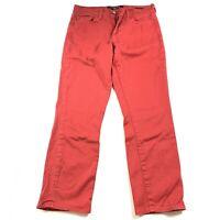 Lucky Brand Sofia Capri Women's Cropped Capri Jeans Pants Red Size 4/27