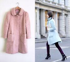 Beautiful Alberta Ferretti Pink Mohair Wool Coat Jacket Sz 8 10 bracelet sleeves