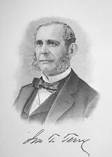 JOHN T. TERRY Connecticut Banker - 1895 Portrait Print