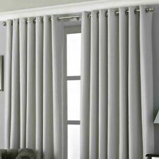 """Eyelet Lined Curtains Riva Paoletti Pendleton Silver Dotted 66 x 90"""" (969)"""