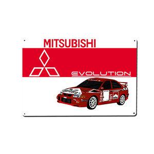 Mitsubishi Evo Rally Car Metal Wall Art / Print / Image