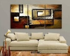 Oil On Canvas Painting Large Modern Contemporary 3-Piece Abstract Wall Art Gift