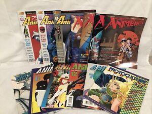 Lot of 13 Anime Magazines - Animag Animerica Anime UK