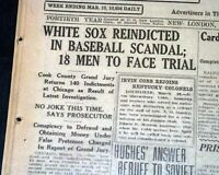 BLACK SOX SCANDAL World Series w/ Jewish Gamblers Indictments 1921 Old Newspaper