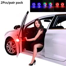 2 PCS Universal Car Door LED Opening Warning Lamp Safely Flash Signal Light US