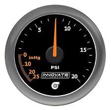 Innovate 3857 MTX Analog 20 PSI Vacuum-Boost Gauge Kit Black Dial