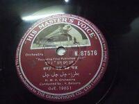 "V BALSARA   ORCHESTRA N 87576 RARE 78 RPM RECORD 10"" INDIA HMV VG+"