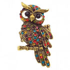 Owl Strigiformes Bird Pet Cocktail Ring Stretch Multi-color Halloween Jewelry