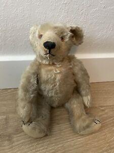 "Antique Steiff 13"" Jointed Teddy Bear Light Brown Mohair"