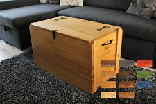 Rustic Wooden Chest Trunk, Blanket Box, Vintage Coffee Table