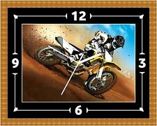 Motocross Dirt Bike Wall Clock Present Christmas Birthday(Can Be Personalised)