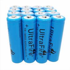 16 X 18650 Li-ion Batteries 5000mAh 3.7V Rechargeable Battery for LED Flashlight