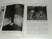 1944 magazine articles on MEXICO, Paricutin Volcano, Mexico City, color photos