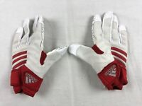 NEW adidas - White/Red Poly Lineman Gloves (Multiple Sizes)