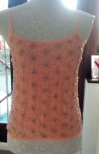 Topshop beaded cami peach size 8