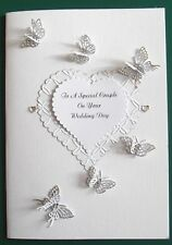Personalised Handmade Wedding/Anniversary/Birthday Card Butterflies