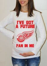 Detroit Red Wings Baby Shower Maternity Shirt Hockey Pregnancy Shirts Baby