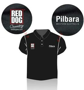 Red Dog Pilbara Polo Shirt - size MEDIUM