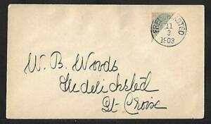 DANISH WEST INDIES DWI 4c BISECT LOCAL COVER 1903