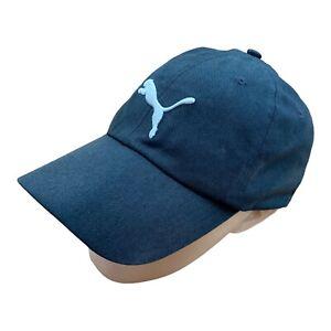 PUMA Embroidered Baseball Cap Hat Black Adjustable Vintage Sport