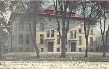 B60/ Lincoln Illinois Il Postcard 1907 High School Building Hand-Colored