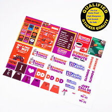 Custom sticker for LEGO 3438 Dunkin Donuts, for MOC building, Premium quality