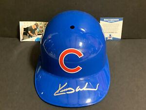 Kerry Wood Chicago Cubs Signed Full Size Souvenir Helmet Beckett COA ~