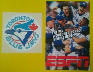 1993 Toronto Blue Jays World Series Champions Sticker Decal Vintage Baseball old