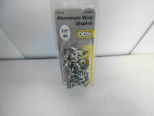 """10 packages of OOK Aluminum Wire Staples. 1/2"""" #6."""