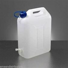 WATER STORAGE CONTAINERS 20L LTR LITRE CARRIER TAP FOOD GRADE JERRY CAN