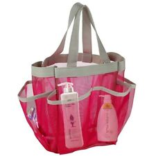 Shower Caddy Tote Portable 7 Pocket Hanging Toiletry Bathroom Organizer Mesh Bag
