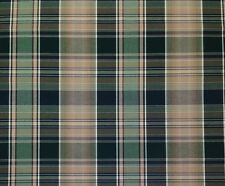 "SUNBRELLA MILTON PINE PLAID GREEN WOVEN INDOOR OUTDOOR FABRIC BY THE YARD 51""W"