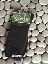BAMBOO EXRTA THICK SOCK CHARCOAL MENS 10-14 BAMBOO TEXTILES