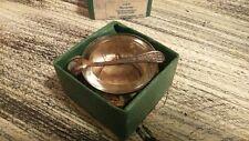 Vintage Soviet Russian Caviar Bowl in Original Box Open Salt Cellar with Spoon