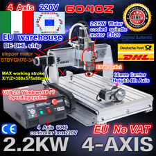 【IT+DE】 USB 4 Axis 6040 2200W 2.2KW CNC Router Cutting Engraving Milling Machine