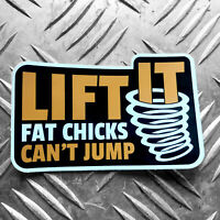 LIFT IT - FAT CHICKS CANT JUMP vw swamper 4x4 sticker - land rover - offroad