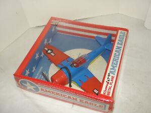VIntage Hubley WWII P-47 American Eagle Carrier Fighter Airplane Old Store Stock