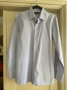 Tom Ford Mens Blue Shirt Large, Neck 41cm, Perfect Condition Worn Once