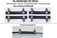 8mm 4x VERBINDER BENZIN DIESEL LEITUNG für Stahl Kunifer Kupfer Leitung Rohr VZ