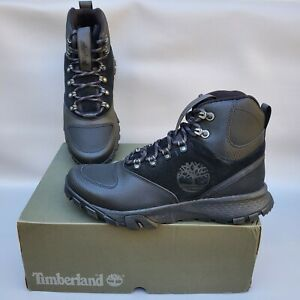 Timberland Garrison Trail WP Mid Hiker Men's Black Suede Boots US Size 11