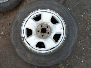 "SUBARU FORESTER 2004 STEEL WHEEL 15"" WITH BRIDGESTONE DUELLERS 215/70/R 15 TYRE"