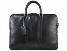 Italian Genuine Leather Briefcase / Workbag / Business Bag / Folder  - black