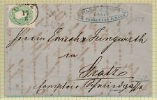 FF7063 Austria 1862 local cover 3kr green Mi.19