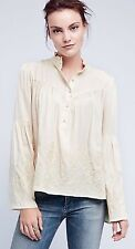 NWT in Bag $118 Anthropologie embroidered Manor Blouse oversized Fit XS-Fst Ship
