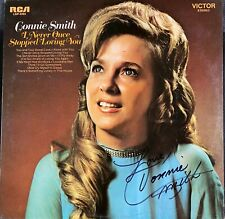 CONNIE SMITH PERFECTLY SIGNED 'STOPPED LOVING YOU' ALBUM COVER  WITH JSA COA.