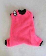 XS Hot Pink Fleece Dog Pajamas clothes PJS pet apparel Clothing PC Dog®
