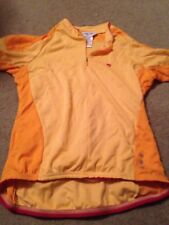 Pearl Izumi Cycling jersey Wimens Size Large Polyester Orange