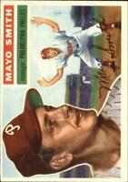 1956 Topps Philadelphia Phillies Baseball Card #60 Mayo Smith MG DP - EX-MT