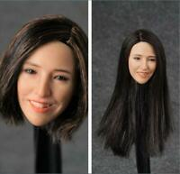 1/6 Shadow Studio SD001 Beauty Asian Girl Head Sculpt Fit 12'' Suntan Body Toy