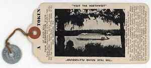 Washington WA State Sales Tax Token & Kalakala Ferry Souvenir Tag - 1935 - 37